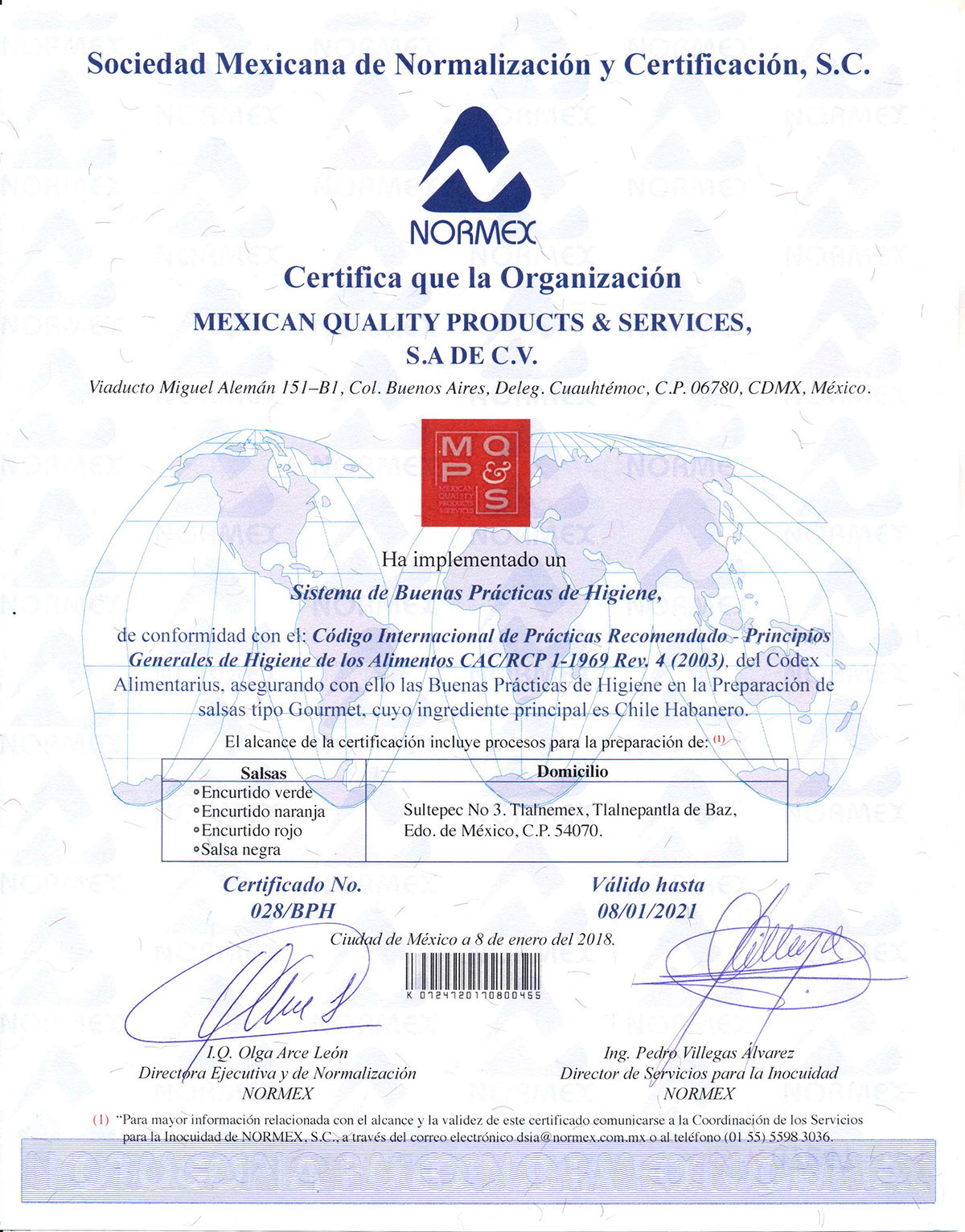 NORMEX-MQPS0001